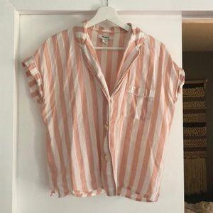 Madewell Candy Stripe Pajama Style Top